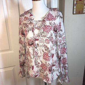 Romeo Juliet Blouse Shirt Top Floral Pink Small